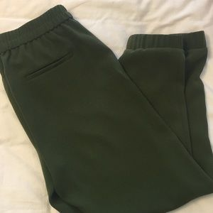 Relaxed JCrew Turner Jogger in Olive Green